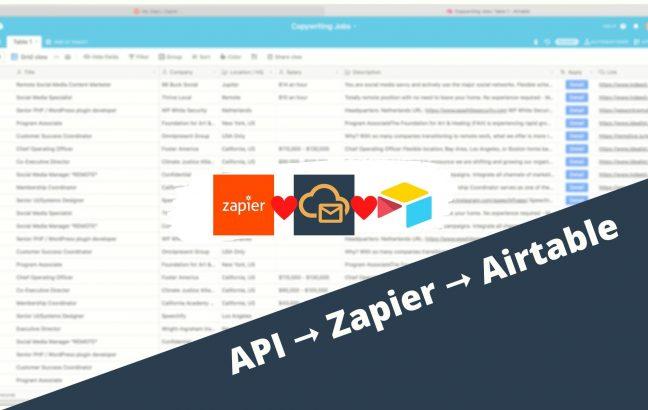 Api - Zapier - Airtable