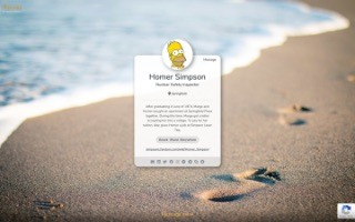 Example Business Card - Homer